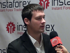 InstaForex tv events. September 2012, Pameran ShowFx World di Moscow